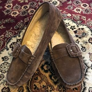 Ugg Thelma Moccasin Loafer Brown Suede 8.5